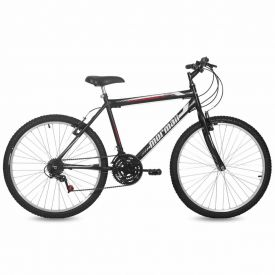 Bicicleta Aro 26 V-Brake Nylon Mormaii Storm - Preta