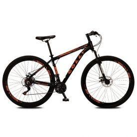 Bicicleta Aro 29 Atalanta Alumínio Colli - Preto e Laranja