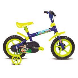 Bicicleta Infantil Aro 12 Jack Azul E Verde Limão Verden - 10445