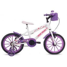 Bicicleta Mormaii Aro 16 Feminino Next - Branco