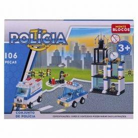 Bloco De Montar Havan Polícia 106 Peças - HME1391