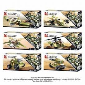Blocos De Montar Exército Display Multikids - Army