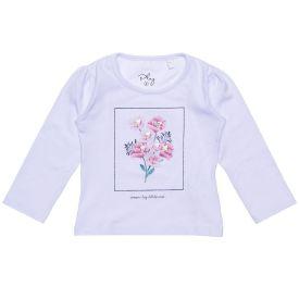 Blusa 1 a 3 anos Cotton Estampa Flores Fakini Branco