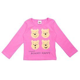 Blusa 1 a 3 Anos Cotton Pooh Faces Disney Rosa