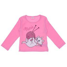 Blusa 1 a 3 Anos Marie Bola de Lã Disney Rosa Petala