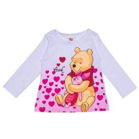 Blusa 1 a 3 Anos Pooh e Leitão Disney Branco