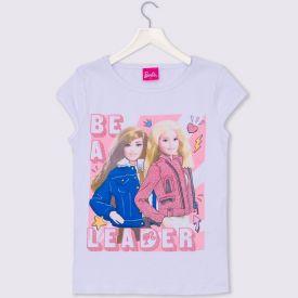 Blusa 4 a 10 anos Cotton Bonecas Barbie Mattel Branco