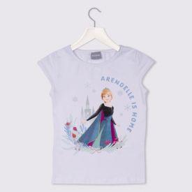 Blusa 4 a 10 anos Cotton Frozen II Ana Disney Branco