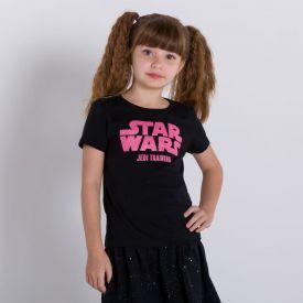 Blusa 4 a 10 anos M/Malha Star Wars Disney
