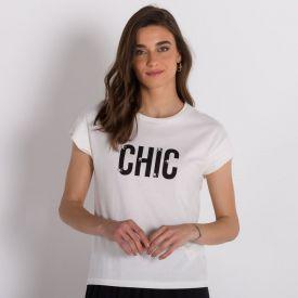 Blusa Chic com Pérolas Patricia Foster Off White