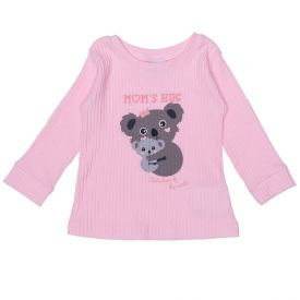 Blusa de Bebê Coala Mom's Hug Fakini Rosa Claro