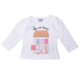Blusa de Bebê Estampa Cats My Cute House Fakini Marfim
