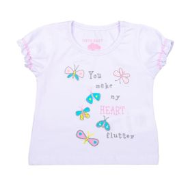 Blusa de Bebê Light Borboletas Yoyo Baby Branco