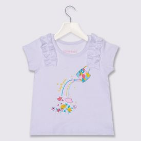 Blusa de Bebê Menina Panting Glitter Yoyo Baby Branco
