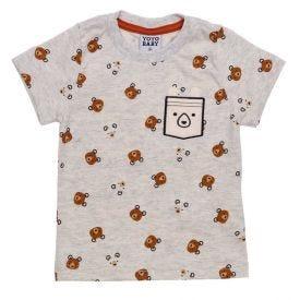 Blusa de Bebê Menino Urso + Lateral Interativo Yoyo Baby Estampado