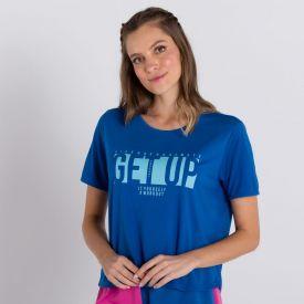 Blusa de Malha Get Up Scream Azul