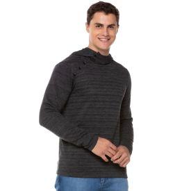 Blusa de Tricot Fake com Capuz Thing