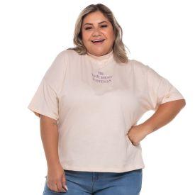 Blusa Plus Size Golinha Patrícia Foster Mais Areia