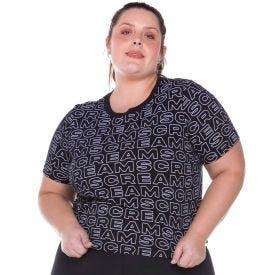 Blusa Plus Size Malha Sortido Scream Preto