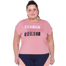 Blusa Plus Size Poliamida Get It Things Scream Rose