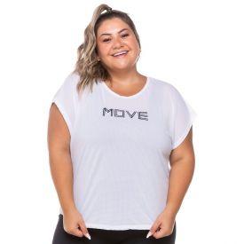 Blusa Poliamida Furadinha Plus Size Scream Branco