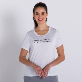 Blusa Poliéster Fitness Scream Branco