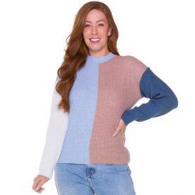Blusa Tricot Bloco de Cor Patricia Foster Color