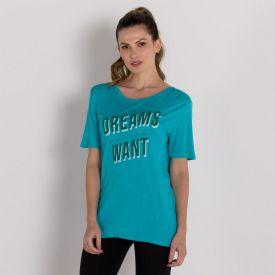 Blusa Viscose Dreams Scream Verde Aqua