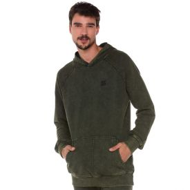 Blusão com Bolso Canguru Marmorizado Nicoboco Verde 8491