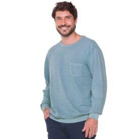 Blusão com Bolso Frontal Marc Alain Azul