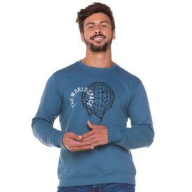 Blusão com Estampa Space Thing Azul