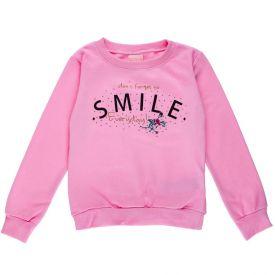 Blusão de 4 a 10 Anos Moletom Smile Marmelada