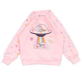 Blusão de Bebê Moletom Magical Surprise Yoyo Baby Rosa Claro