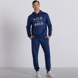 Blusão de Moletinho Nicoboco Azul