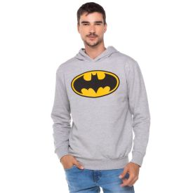 Blusão Moletom Canguru Batman DC Comics Mescla