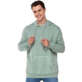 Blusão Moletom com Capuz Estonado Thing Verde