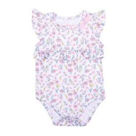 Body de Bebê Light Floral com Babados Yoyo Baby Estampado
