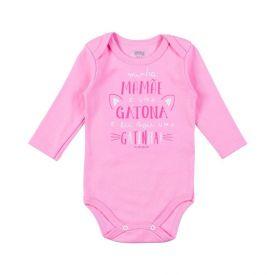 Body de Bebê Malha Suedine Temático Alakazoo Rosa