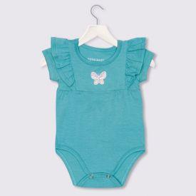 Body de Bebê Menina Cotton Borboleta Yoyo Baby Verde