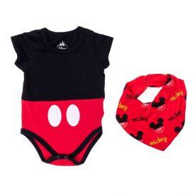 Body de Bebê Mickey com Bandana Disney Preto