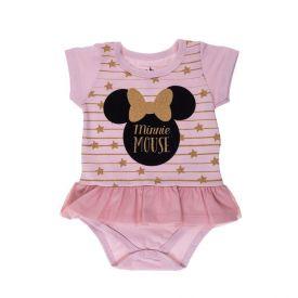 Body de Bebê Minnie com Sainha Disney Rosa Soft