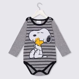 Body de Bebê Snoopy e Woodstock Peanuts