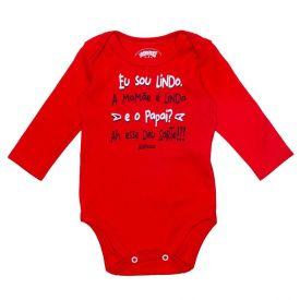 Body de Bebê Suedine Frase Alakazoo