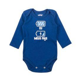 Body de Bebê Suedine Frase Alakazoo Pilha