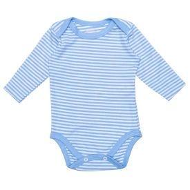 Body de Bebê Suedine Listrado Alakazoo Azul