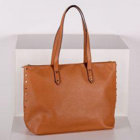 Bolsa Sacola Tote Bag Grande Semax - Caramelo