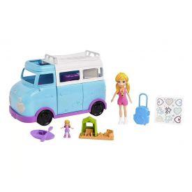 Boneca Polly Pocket Glamorosa Van De Campismo Mattel - FTP74