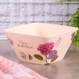 Bowl para Salada 750ml Flores Solecasa - Bege