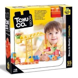 Brinquedo Educativo Tchuco Blocks Construção 55 Peças Samba Toys - 0242