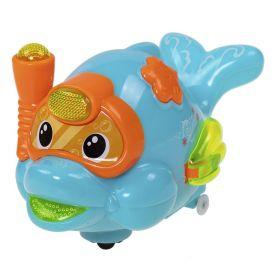 Brinquedo Musical Peixinho Com Luz Bate E Volta - HB0788